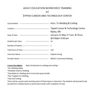 Adult Education Workforce Training