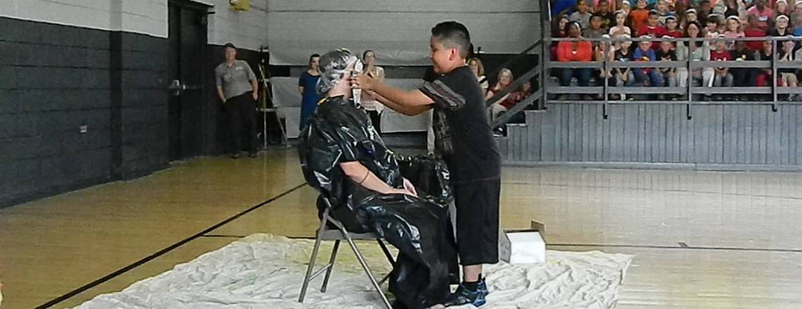 Mrs. Mandy gets pied for first grade!