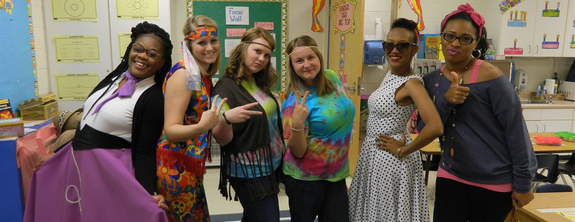 Teachers dress up for Decade Day!