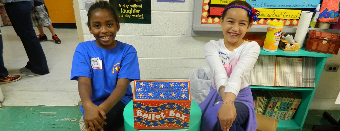 RES QUEST students help as Poll Workers during our election!