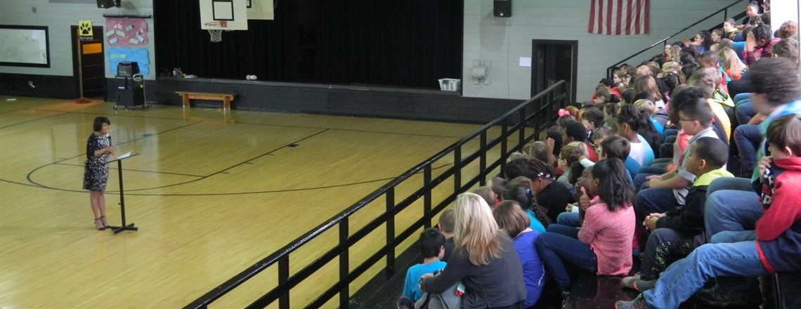 Poet, Author, and Speaker, Patricia Neely-Dorsey, speaks to fourth grade students!