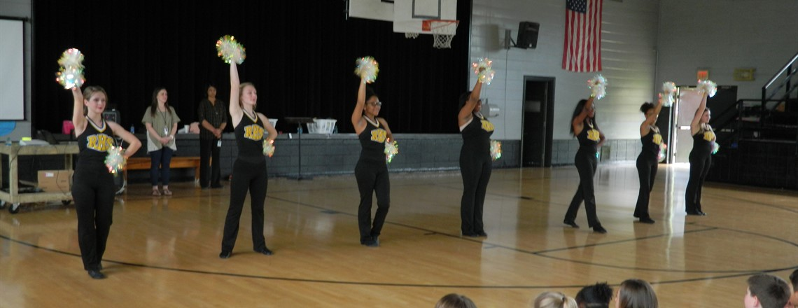 RHS Pom Squad performs at our Pep Rally!