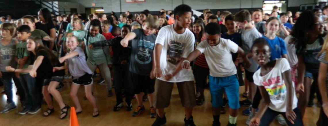 Students get to dance at the Pep Rally!