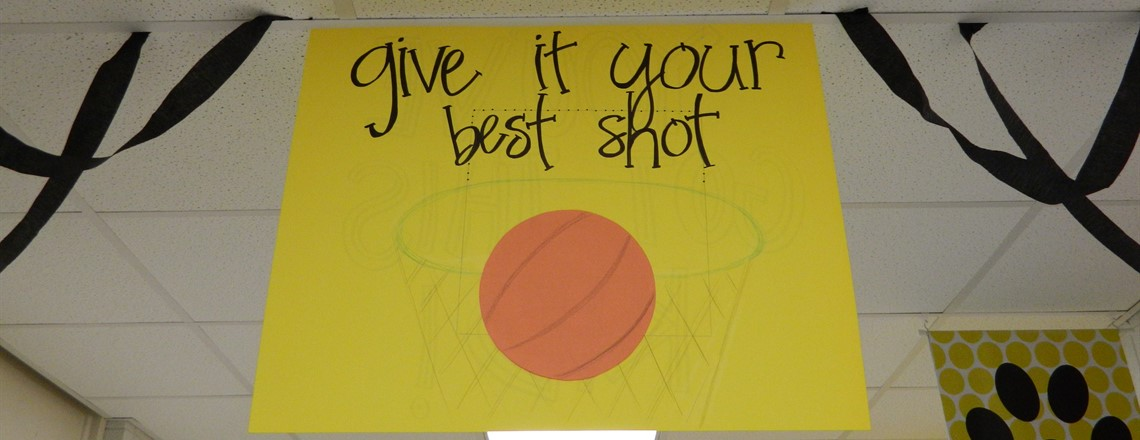 Classrooms created posters to motivate our 3rd & 4th Graders to do their best on the test!