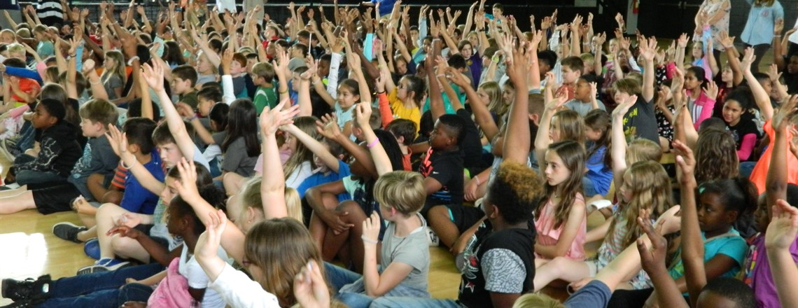 Students at the Pep Rally!