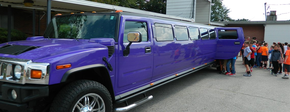 Students who sold 18 fundraiser items get to ride in a hummer limo!