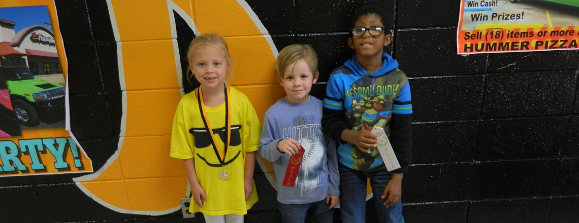 First Grade Reading Fair Winners!