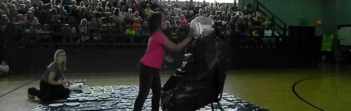 Mr. Moore gets pied in the face 21 times for the St. Jude Mathathon!