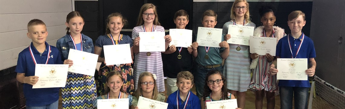 4th Grade Presidential Award Recipients! Great Job Guys!
