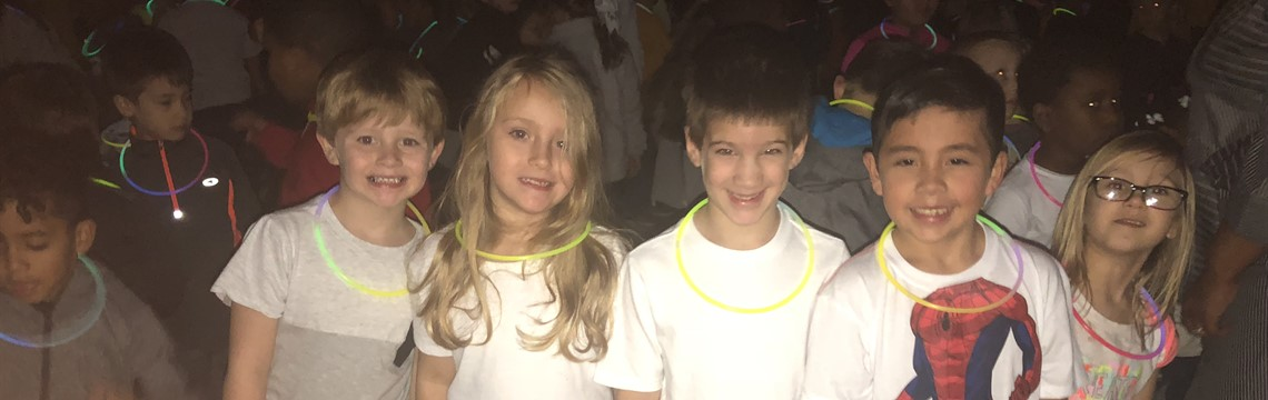 "Glow Party to celebrate being an ""A"" School"